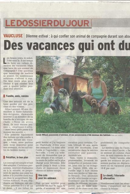 Des vacances qui ont du chien