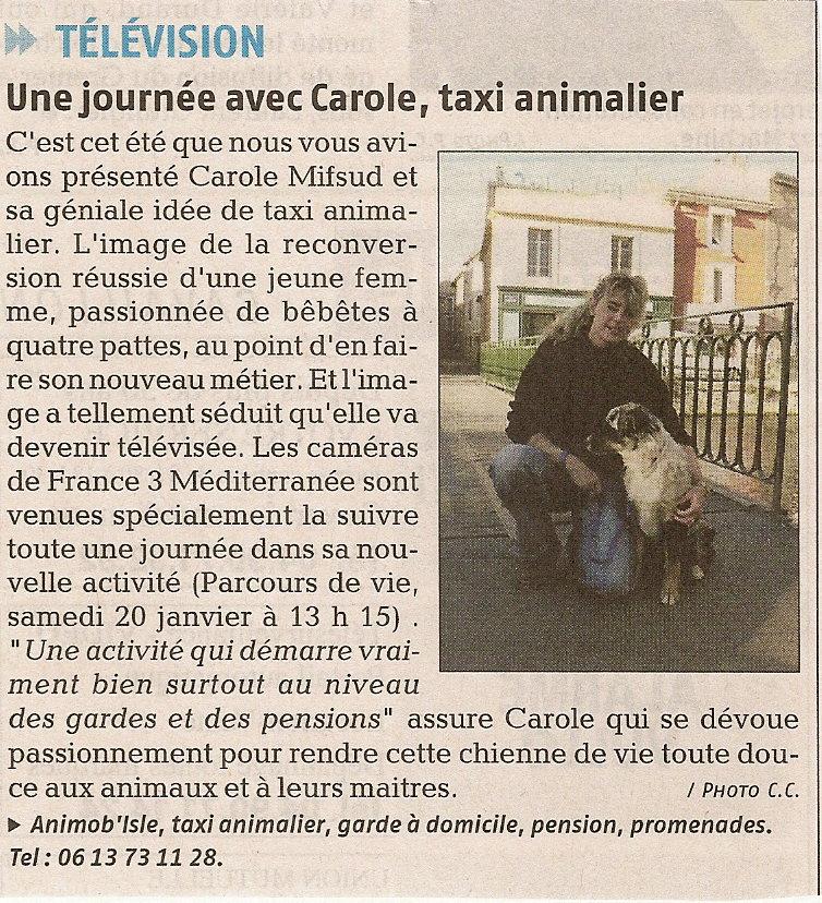 Article la Provence du 16 janvier 2007