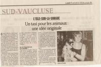 "Article journal ""La Provence"" 9 octobre 2006"
