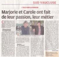 "article journal ""La Provence"" du 4 octobre 2012"