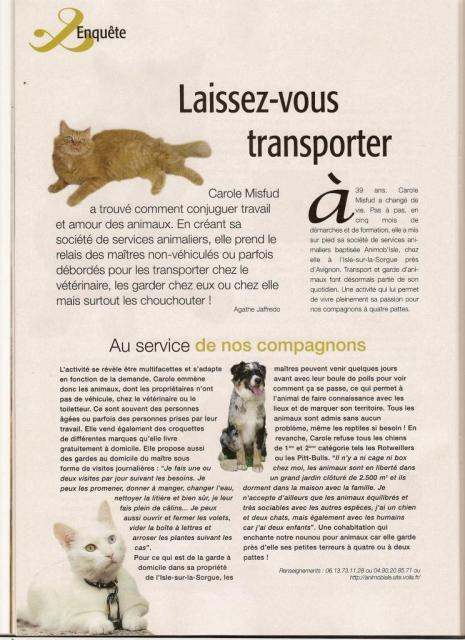"Magazine ""Féminin Spécial chats"" Aout 2007 - Page 1"