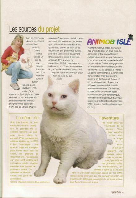 "Magazine ""Féminin Spécial chats"" Aout 2007 - Page 2"
