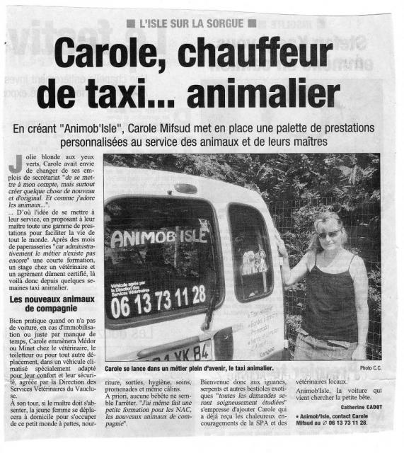 "Article journal ""La Provence"" Juillet 2006"