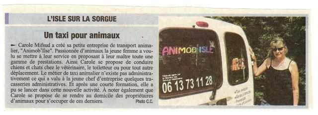 """Article journal """"La Provence"""" Juillet 2006"""