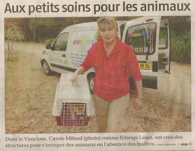 """Premiere page du journal """"La Provence"""" le 11 février 2007"""
