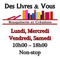 Des livres & vous - Bouquinerie à l'Isle sur la Sorgue (84)