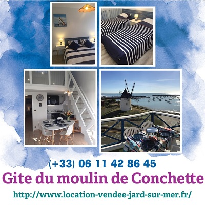 Gite du moulin de Conchette à Jard sur mer (85 - Vendée)